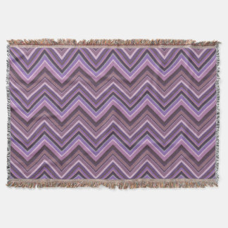 Mauve zigzag stripes throw blanket