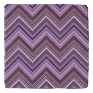 Mauve zigzag stripes trivet