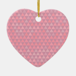 Mauvelous Pink Triangles Ceramic Ornament