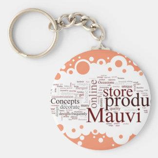 Mauvi Type Keychain