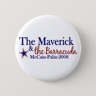 Maverick and Barracuda (McCain Palin 2008) 2 Inch Round Button