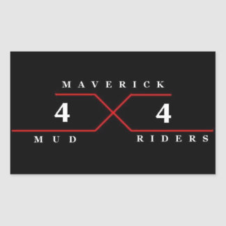 Maverick Mud Riders Sticker