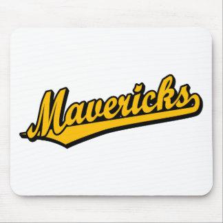 Mavericks in Orange Mouse Pad