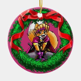 Mavra the Magical Vixen Ceramic Ornament