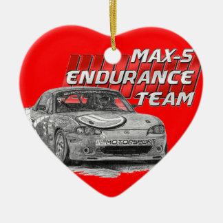 MAX-5 Enduro Team Ceramic Heart Ornament