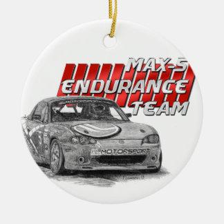 MAX-5 Enduro Team Round Ceramic Ornament