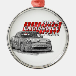 MAX-5 Enduro Team Silver-Colored Round Ornament
