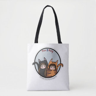 Max and Nelly - a lovely couple of cats (blush) Tote Bag