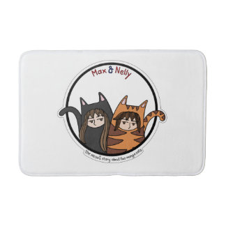 Max and Nelly - a lovely couple of manga cats Bath Mat