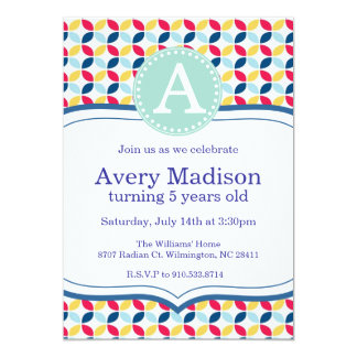 Max and Ruby Inspired Colors Party Invitation