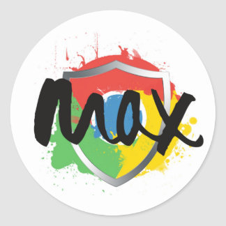 Max Chrome Stickers