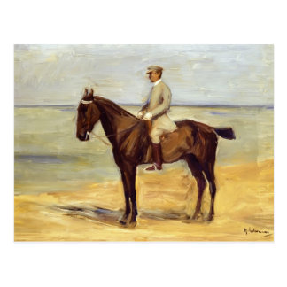 Max Liebermann- Rider on the Beach Facing Left Postcard
