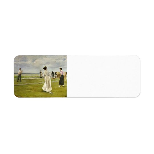 Max Liebermann- Tennis Game by the Sea Return Address Label