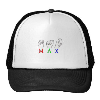 MAX   NAME ASL FINGER SPELLED TRUCKER HAT