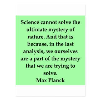max plank quote postcard