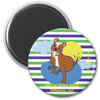 Max & Willamena | Striped 2¼ Inch Round Magnet