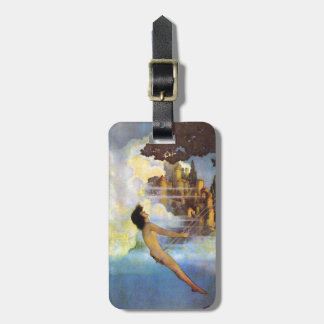 Maxfield Parrish The Dinky Bird Vintage Book Luggage Tag