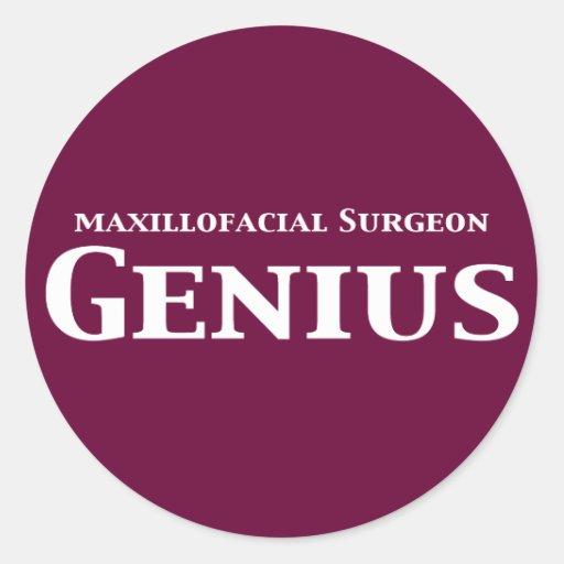Maxillofacial Surgeon Genius Gifts Round Sticker