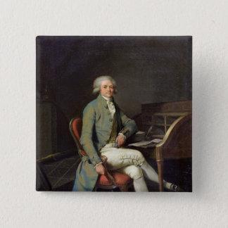 Maximilien de Robespierre 2 Inch Square Button