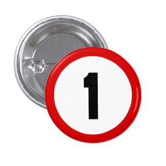Maximum Speed Limit Funny Birthday Age 1 One Pinback Buttons