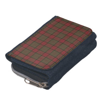 Maxwell Clan Hunting Tartan Red and Brown Plaid Wallet