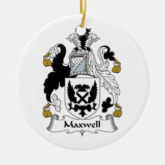 Maxwell Family Crest Ceramic Ornament