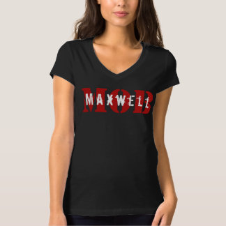 Maxwell MOB Black V-Neck T-Shirt