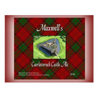 Maxwell's Caerlaverock Castle Ale Postcard