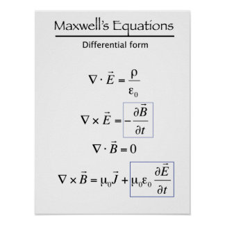 Maxwells Equations - Differential Form Poster