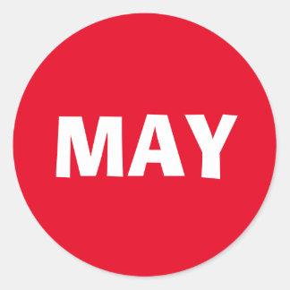 May Ad Lib Red Sticker by Janz
