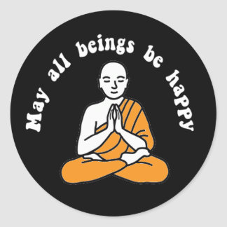 """May all beings be happy"" Sticker"