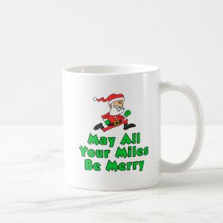 May All Your Miles Be Merry Santa Mug
