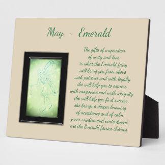 May Birthstone Emerald Plaque