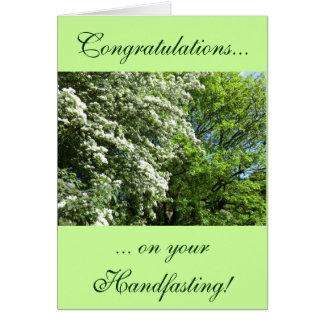 May Blossom and Oak Handfasting Card