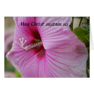 May Christ sustain us Greeting Card
