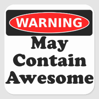 May Contain Awesome Sticker