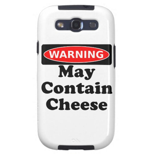May Contain Cheese Samsung Galaxy SIII Case