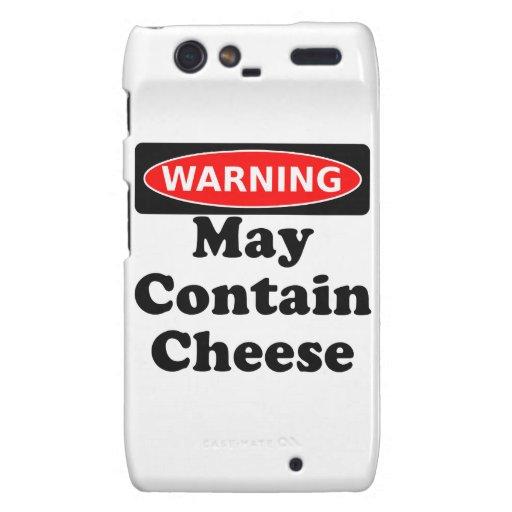 May Contain Cheese Motorola Droid RAZR Case
