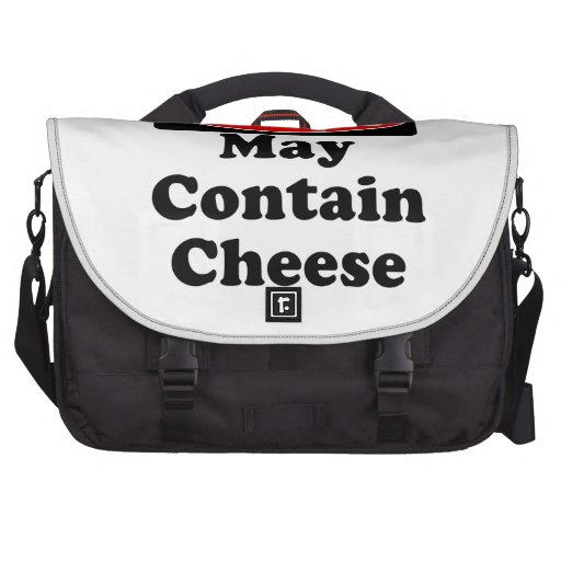 May Contain Cheese Laptop Bag
