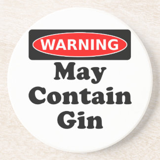 May Contain Gin Beverage Coasters