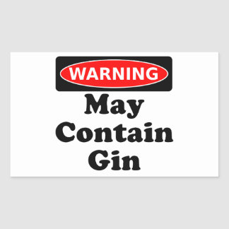 May Contain Gin Sticker