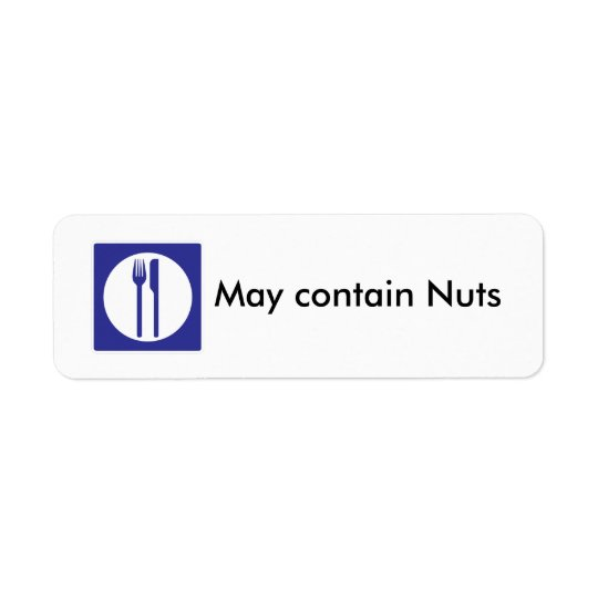 May Contain Nuts label Return Address Label