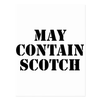 May Contain Scotch Postcard