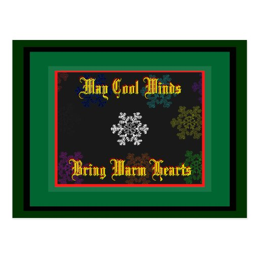 May Cool Winds Bring Warm Hearts Template 1 Post Card