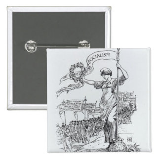 May Day, 1907 2 Inch Square Button