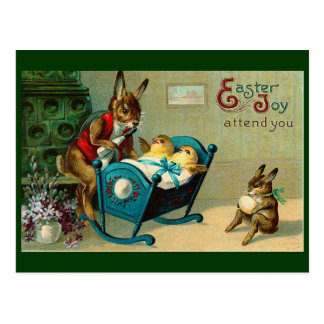 May Easter Joy Attend You Vintage Postcard