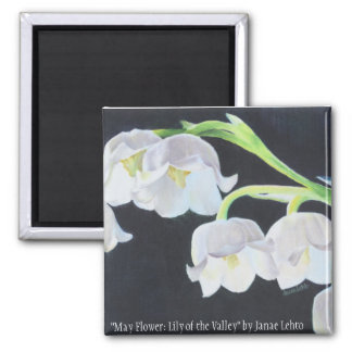 May Flower: Lily of the Valley Magnet