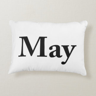 May for birthdays, anniversaries, celebrations decorative pillow