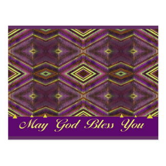 May God Bless You Postcard