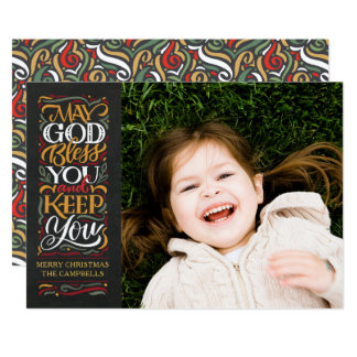 May God Bless You Religious Christmas Card